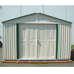 Duramax 10 x 6 Teton Vinyl Shed with Foundation Kit � Green Trim